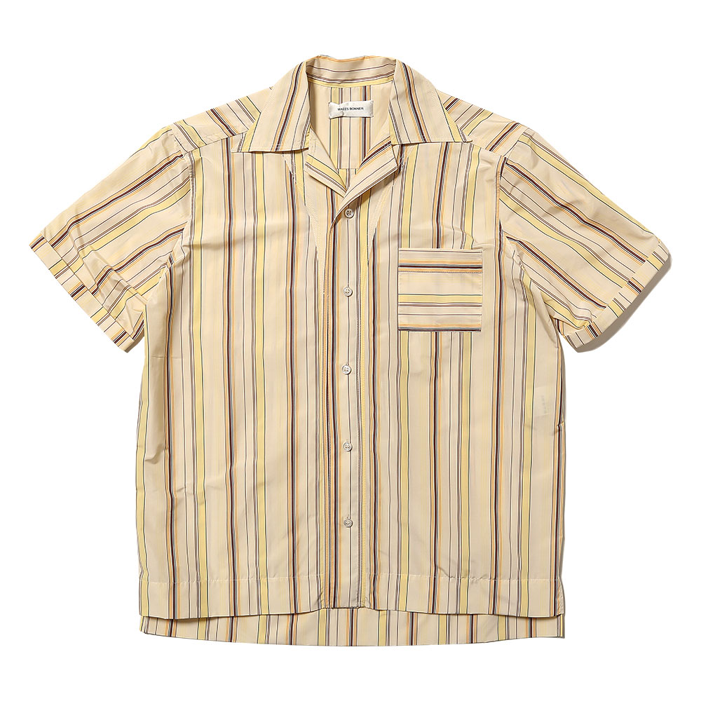 HAVANA SHORT SLEEVE SHIRT PALE YELLOW TOBACCO