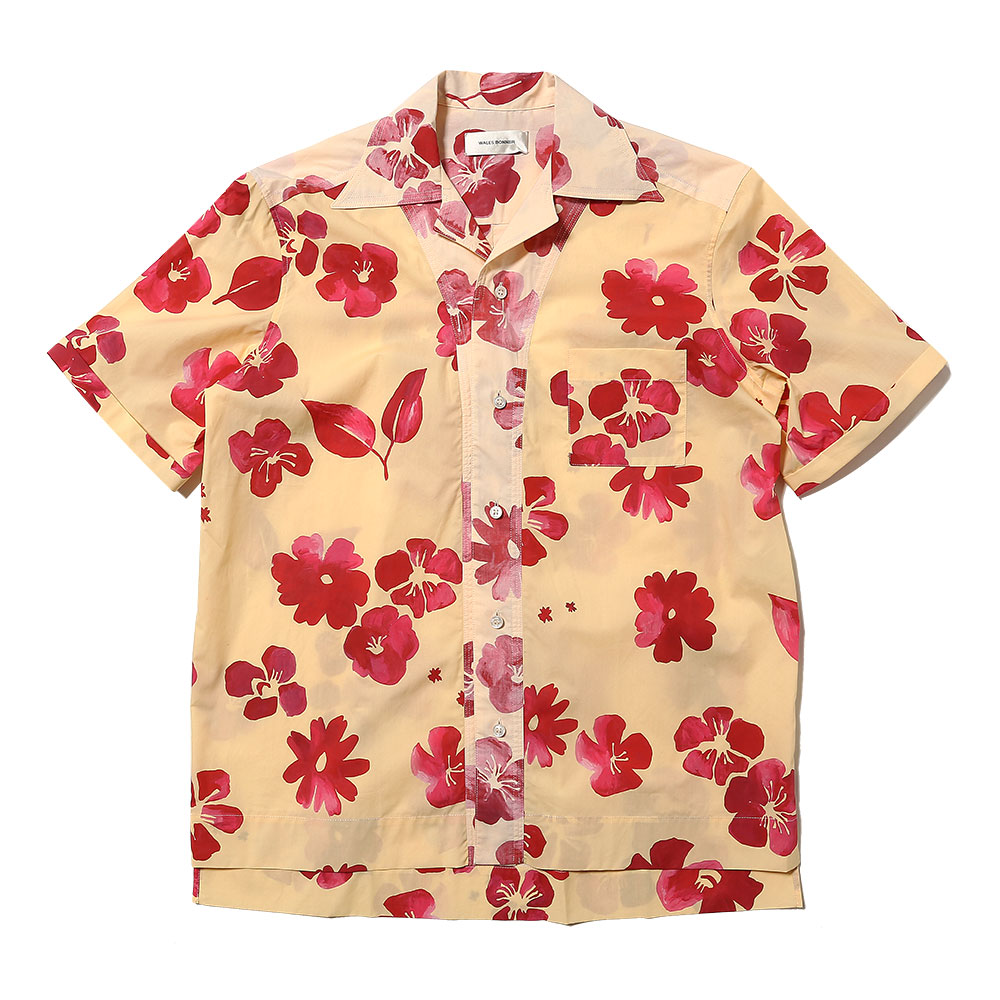 HAVANA SHORT SLEEVE SHIRT PALE YELLOW RED