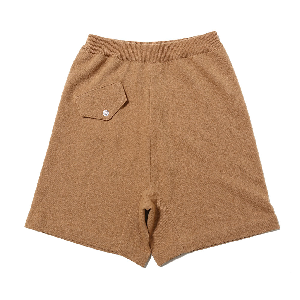 KNITTED SHORT PANT CAMEL