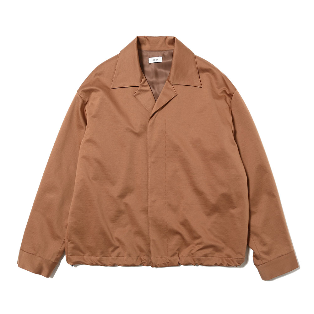 SMOOTH JERSEY BLOUSON BROWN