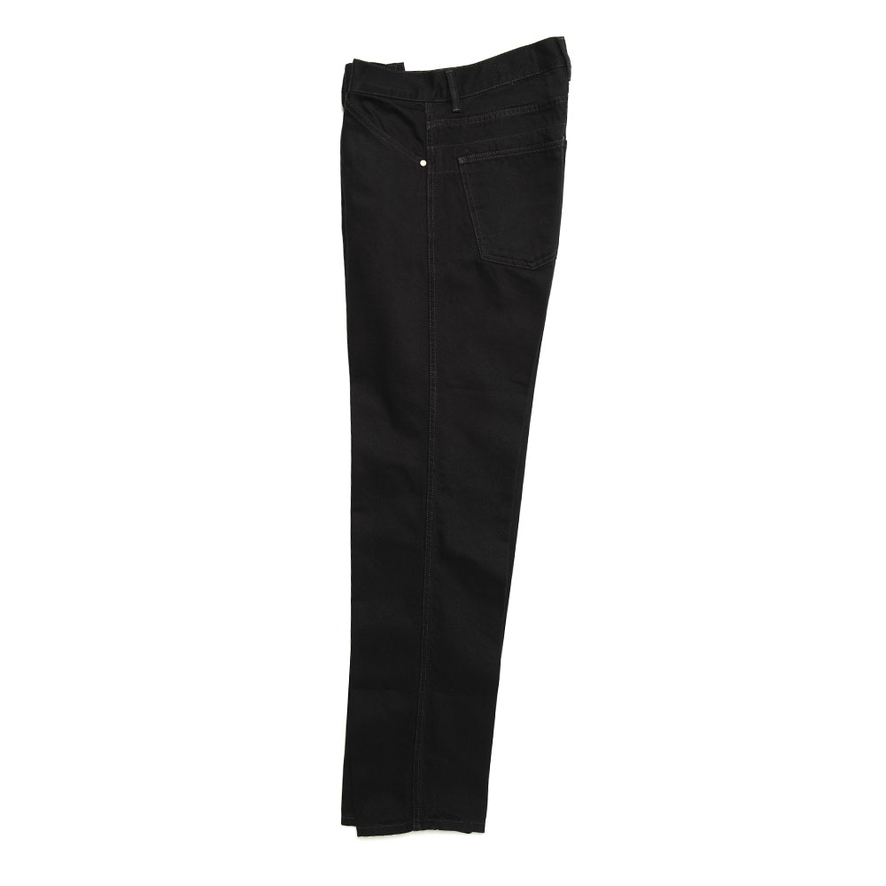 DENIM TAPERED 5 POCKET PANTS BLACK