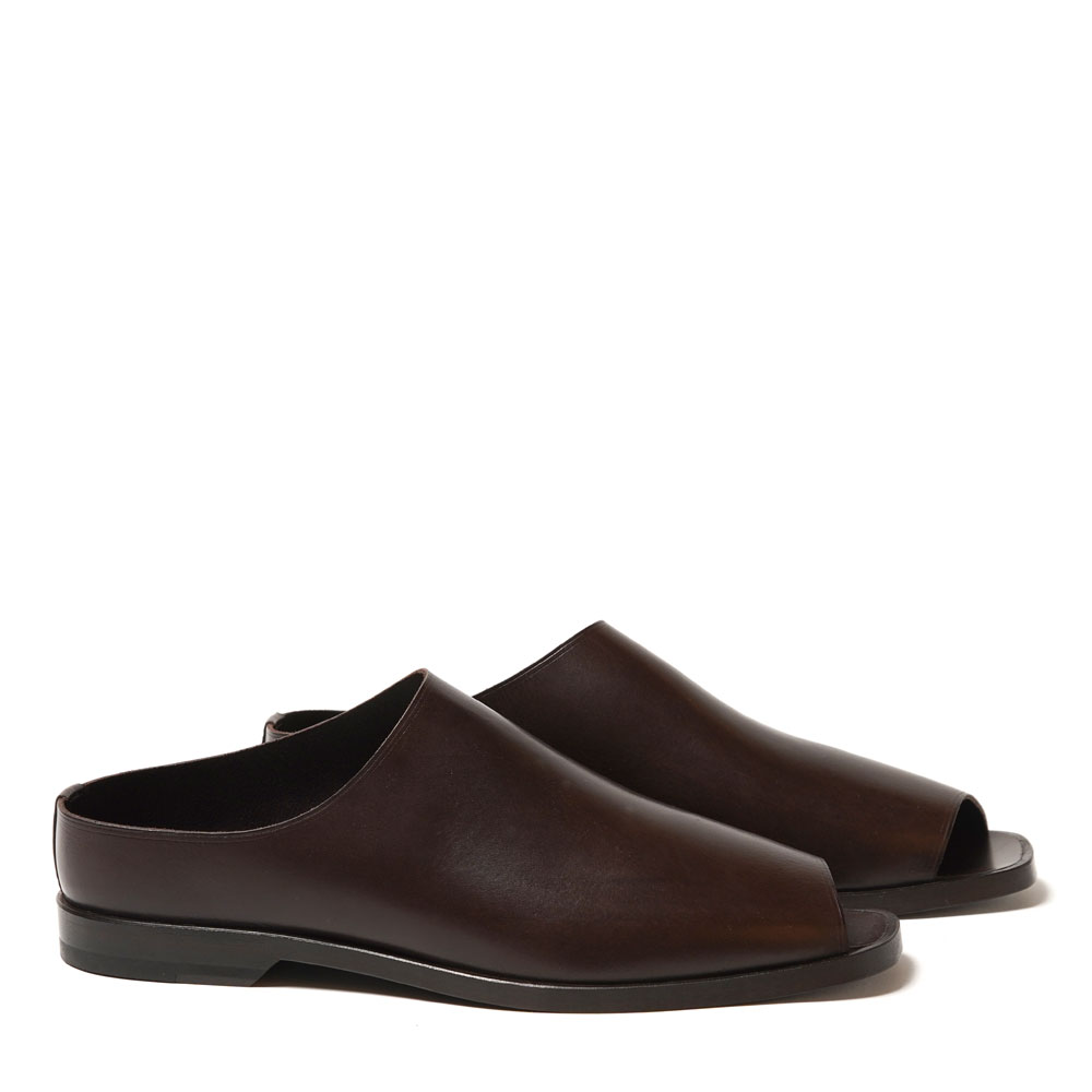 FLAT MULES MIDNIGHT BROWN