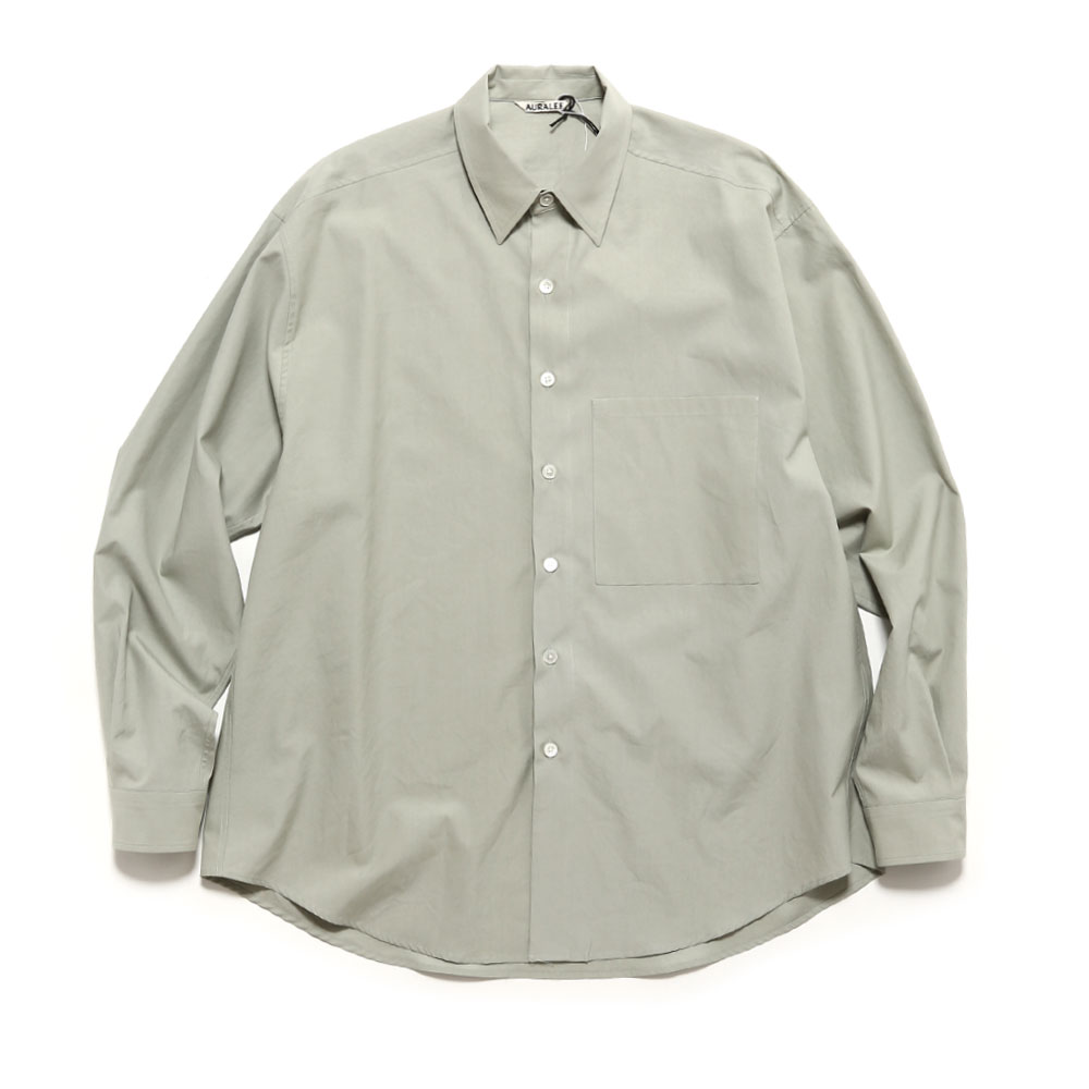 WASHED FINX TWILL BIG SHIRTS A20SS01TN LIGHT GREEN
