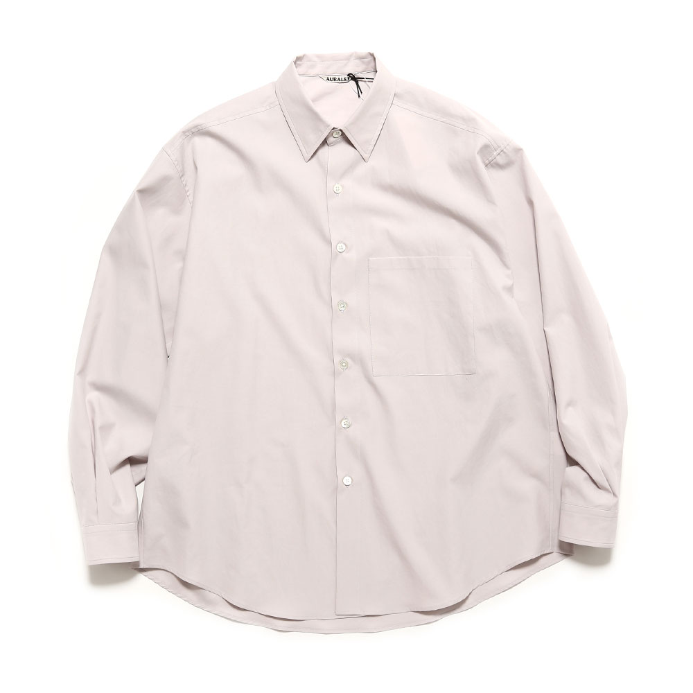 WASHED FINX TWILL BIG SHIRTS A20SS01TN LIGHT PURPLE
