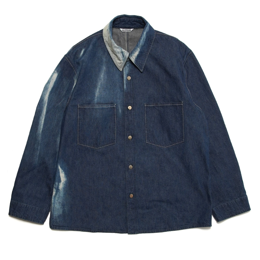 SUN FADE BLEACH LIGHT DENIM SHIRTS BLOUSON SUN FADE BLEACH