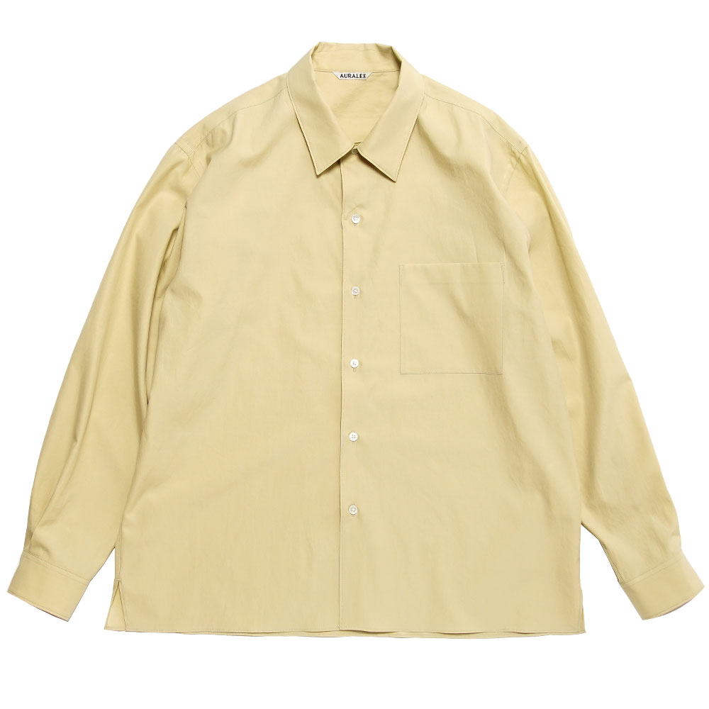 WASHED FINX TWILL BOX SHIRTS LIGHT YELLOW