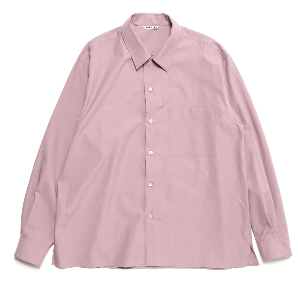WASHED FINX TWILL BOX SHIRTS PURPLE