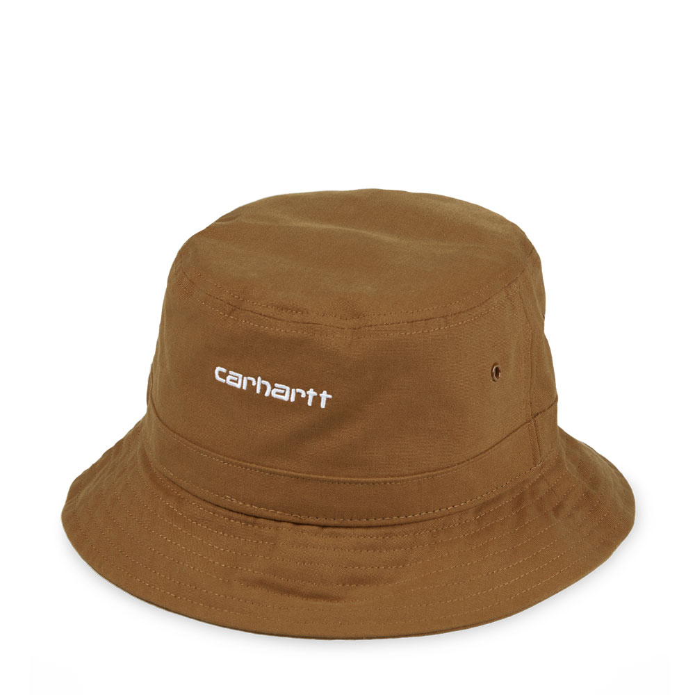 SCRIPT BUCKET HAT BROWN/WHITE