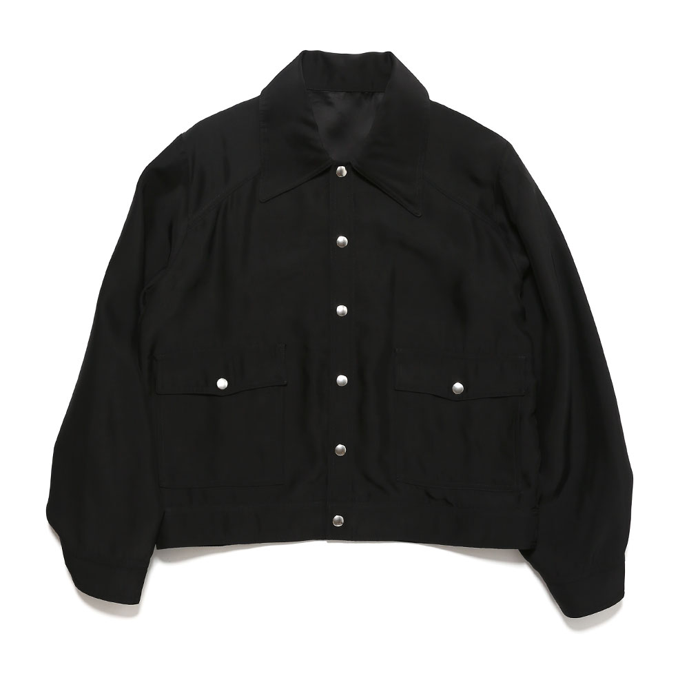 UNLINED SNAP JACKET BLACK
