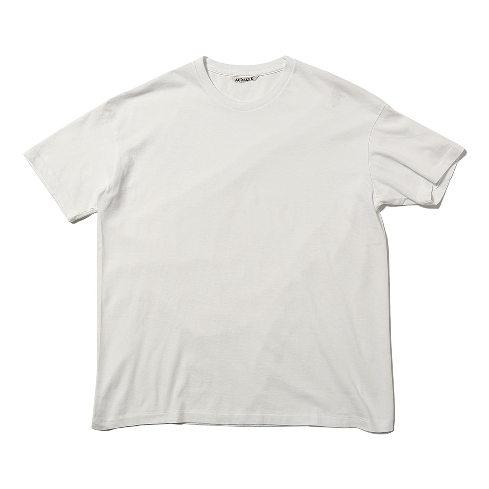 SEAMLESS CREW NECK TEE WHITE