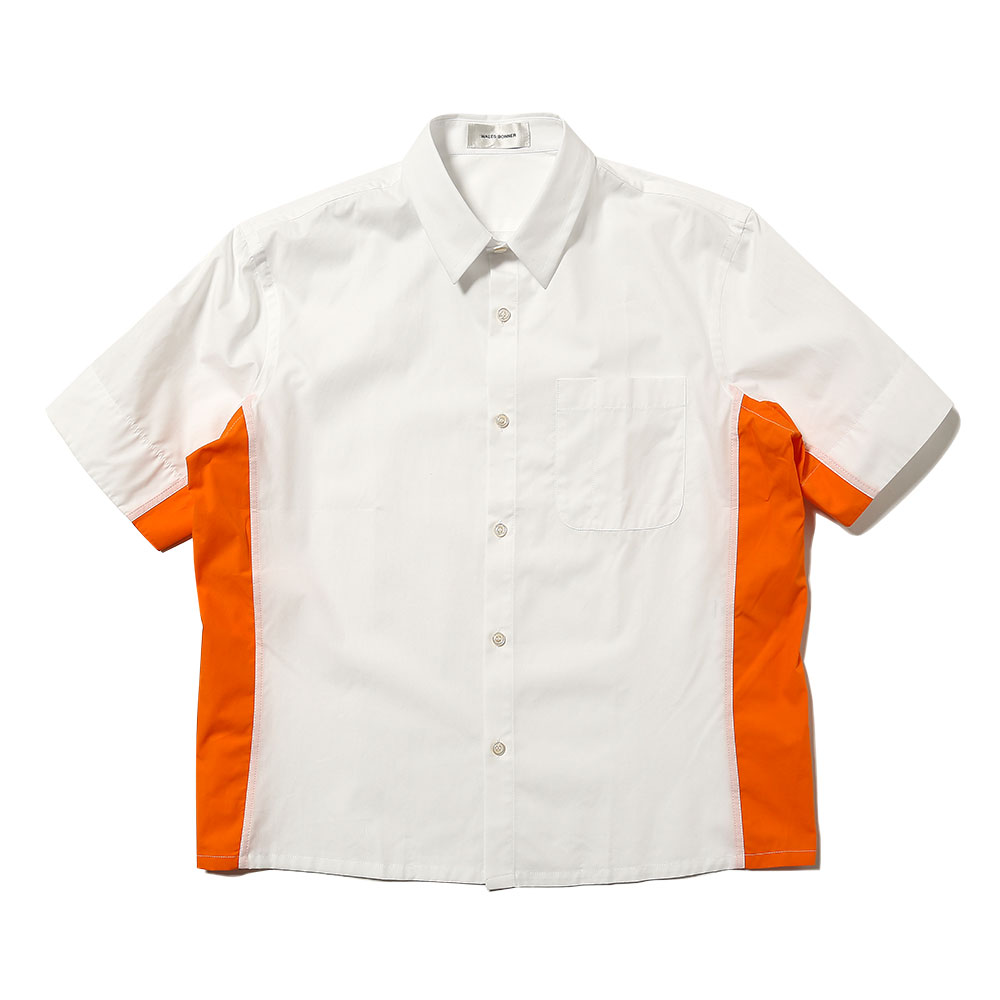 SHORT SLEEVE POCKET SHIRT WHITE/MARIGOLD