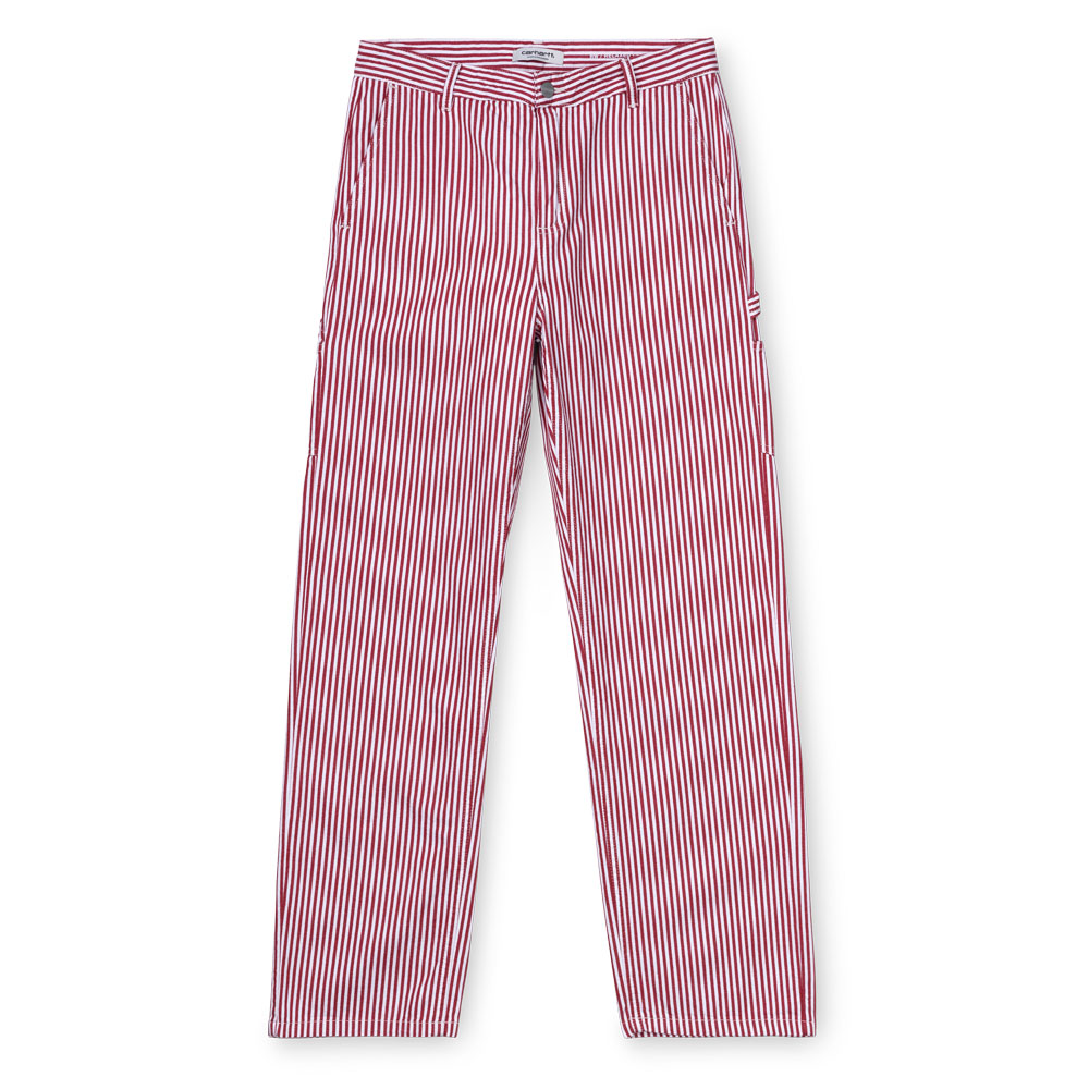 W PIERCE PANT RED/WHITE RINSED