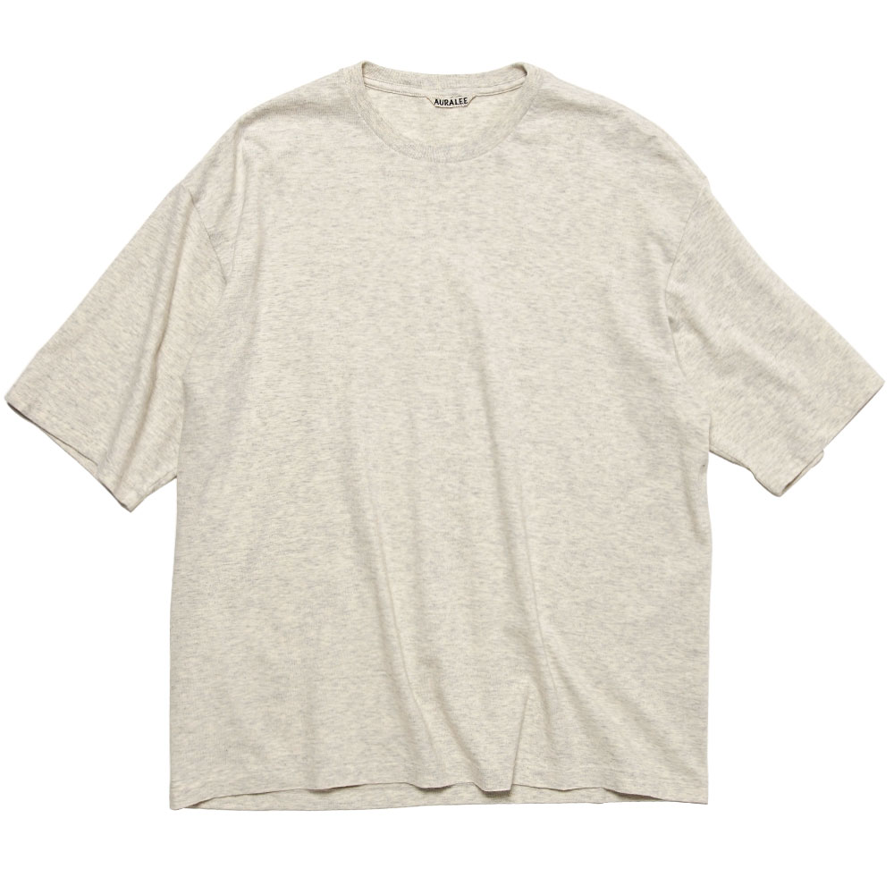 SEAMLESS CREW NECK HALF SLEEVE TEE TOP GRAY
