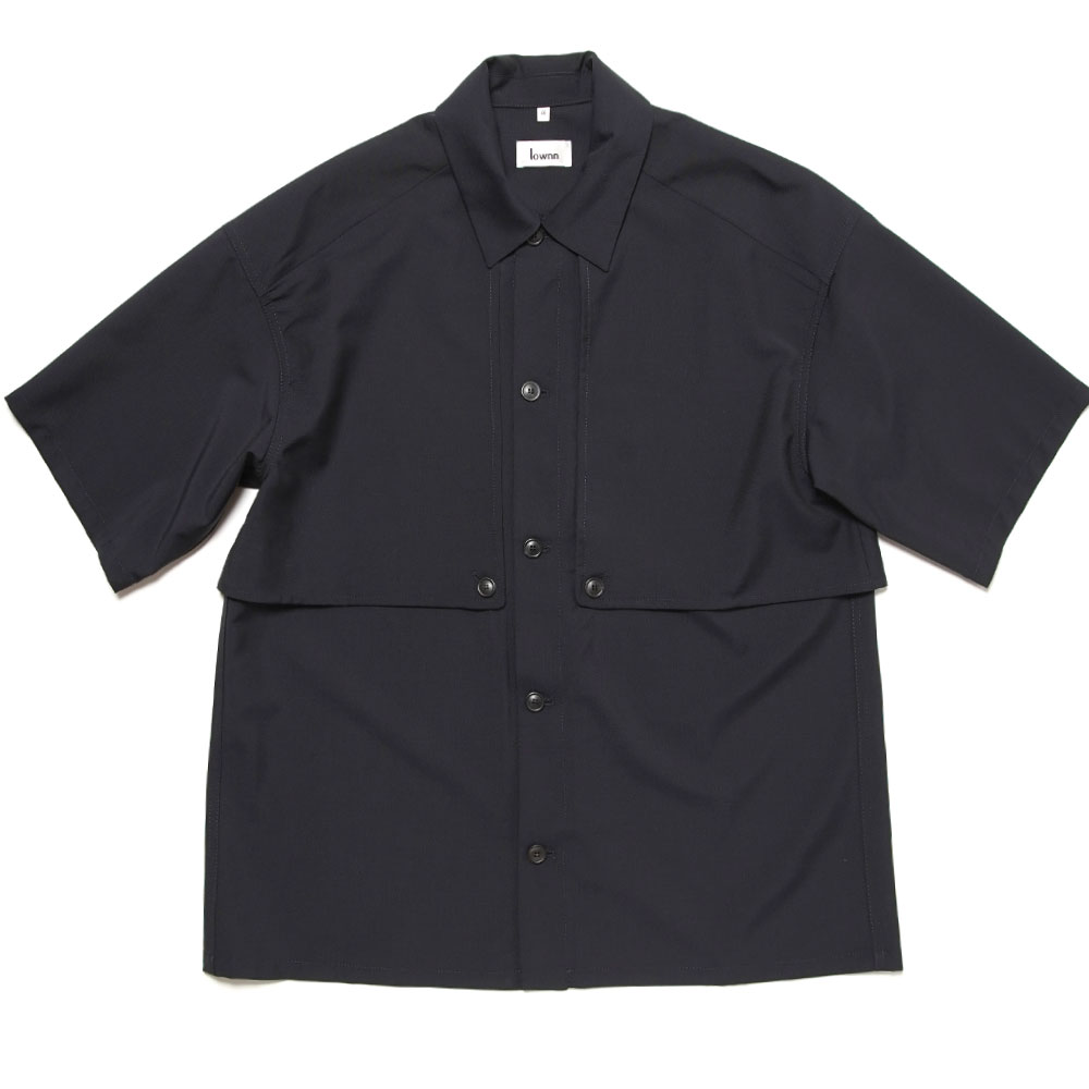 LAYERED SHIRT / CHEMISE DOUBLE VOLET NAVY BLUE