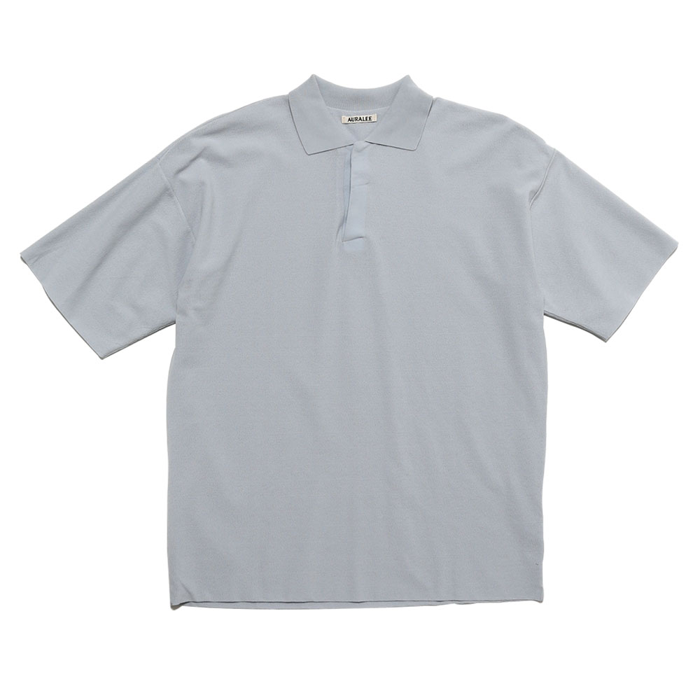 HARD TWIST AMUNZEN DOUBLE CLOTH POLO LIGHT BLUE
