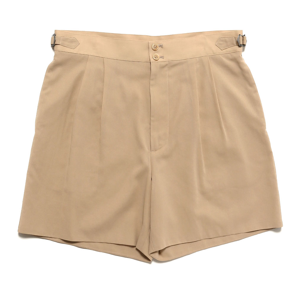 SHUTTLE GEORGETTE CLOTH DOUBLE SHORTS LIGHT BEIGE