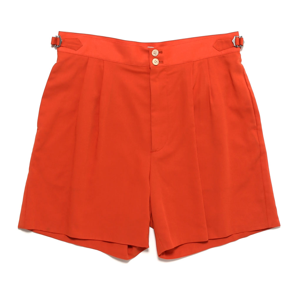 SHUTTLE GEORGETTE CLOTH DOUBLE SHORTS RED ORANGE