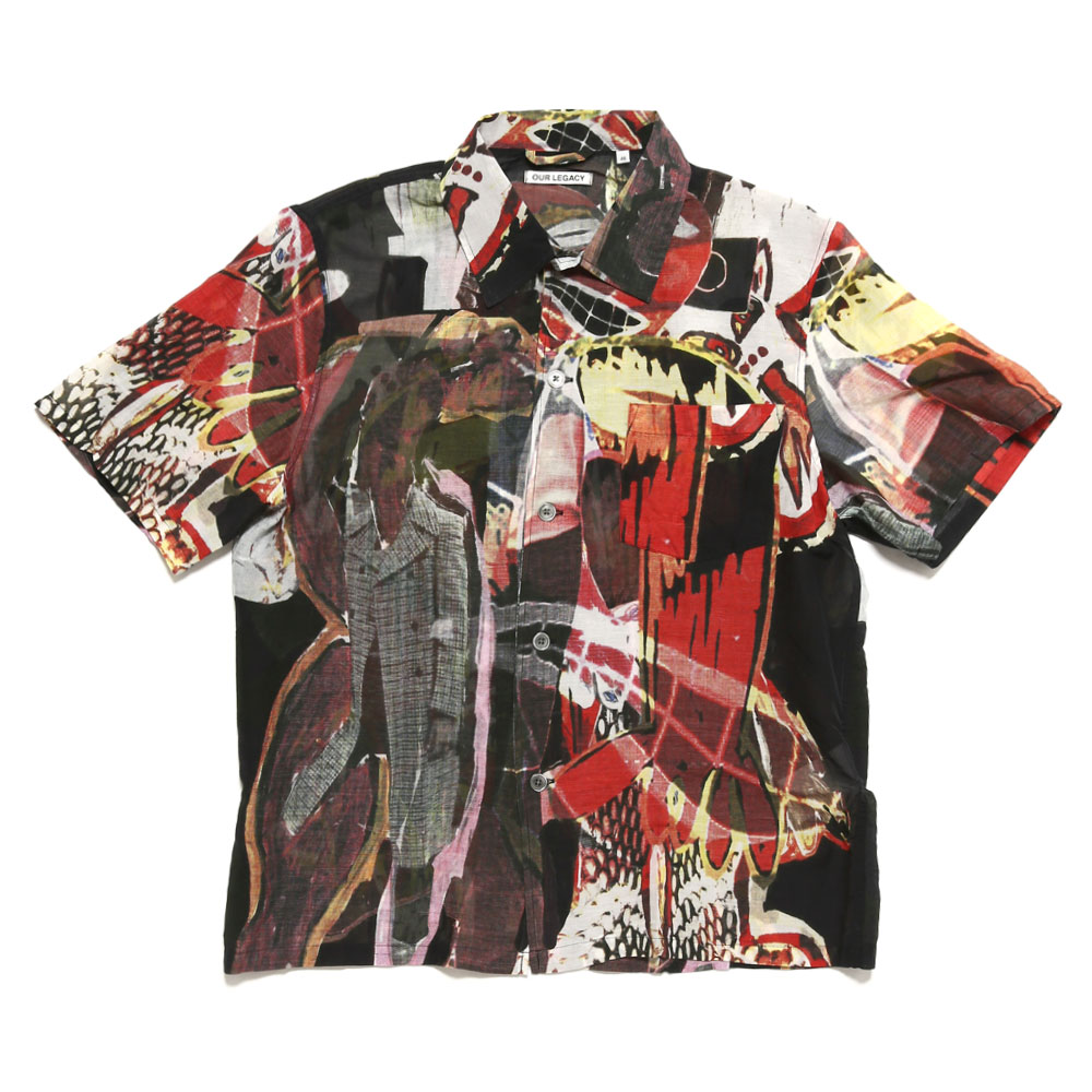 BOX SHIRT SHORTSLEEVE PEACE CROWS