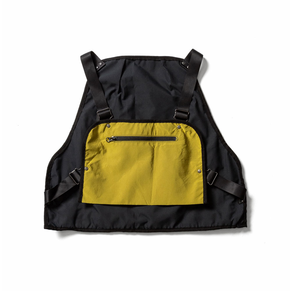 NYLON FISHING VEST MUSTARD
