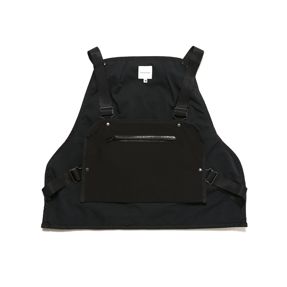 NYLON FISHING VEST BLACK
