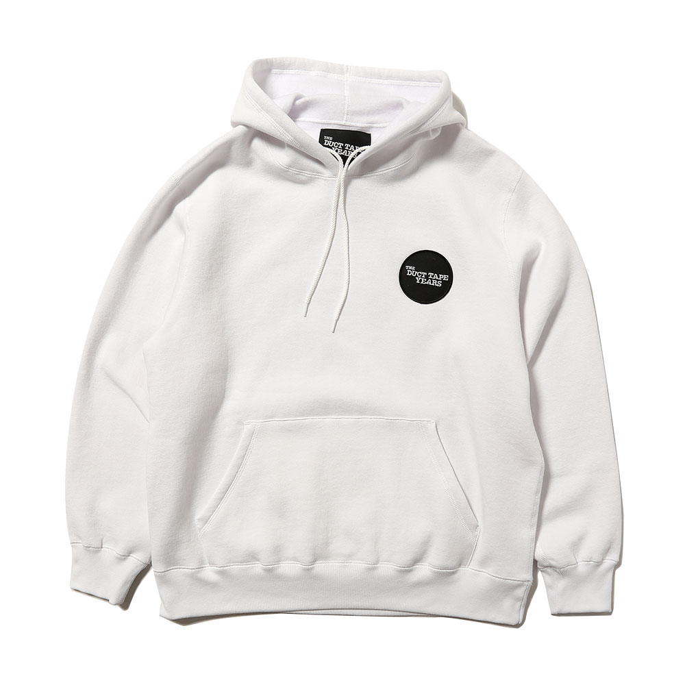 DOTS PULLOVER HOODED SWEATSHIRT WHT