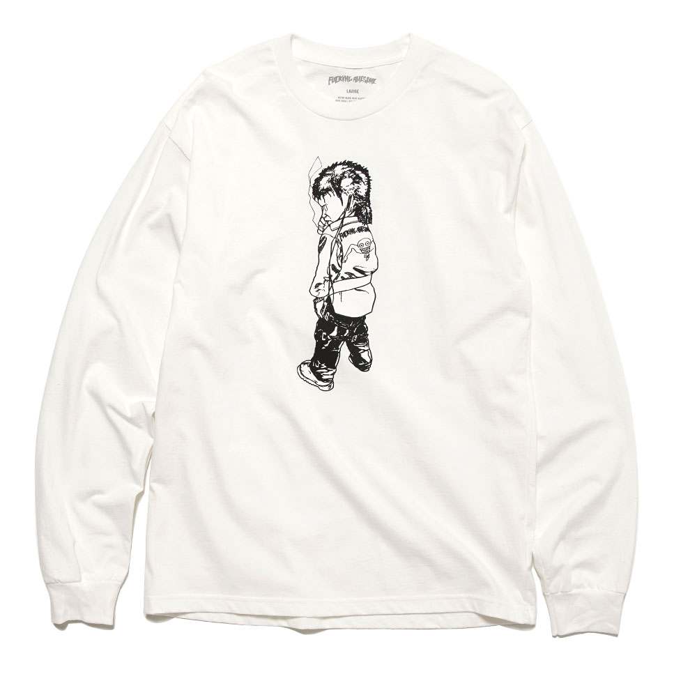 MAKE IT SCREAM L/S TEE WHITE