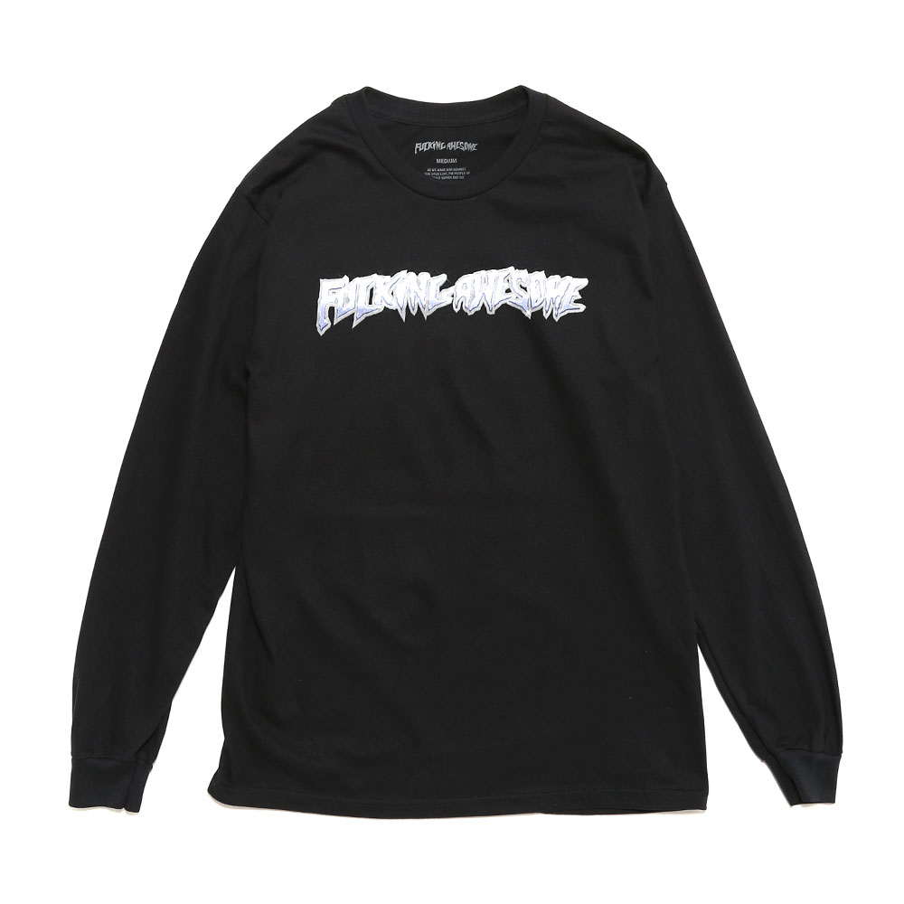CHROME L/S TEE BLACK