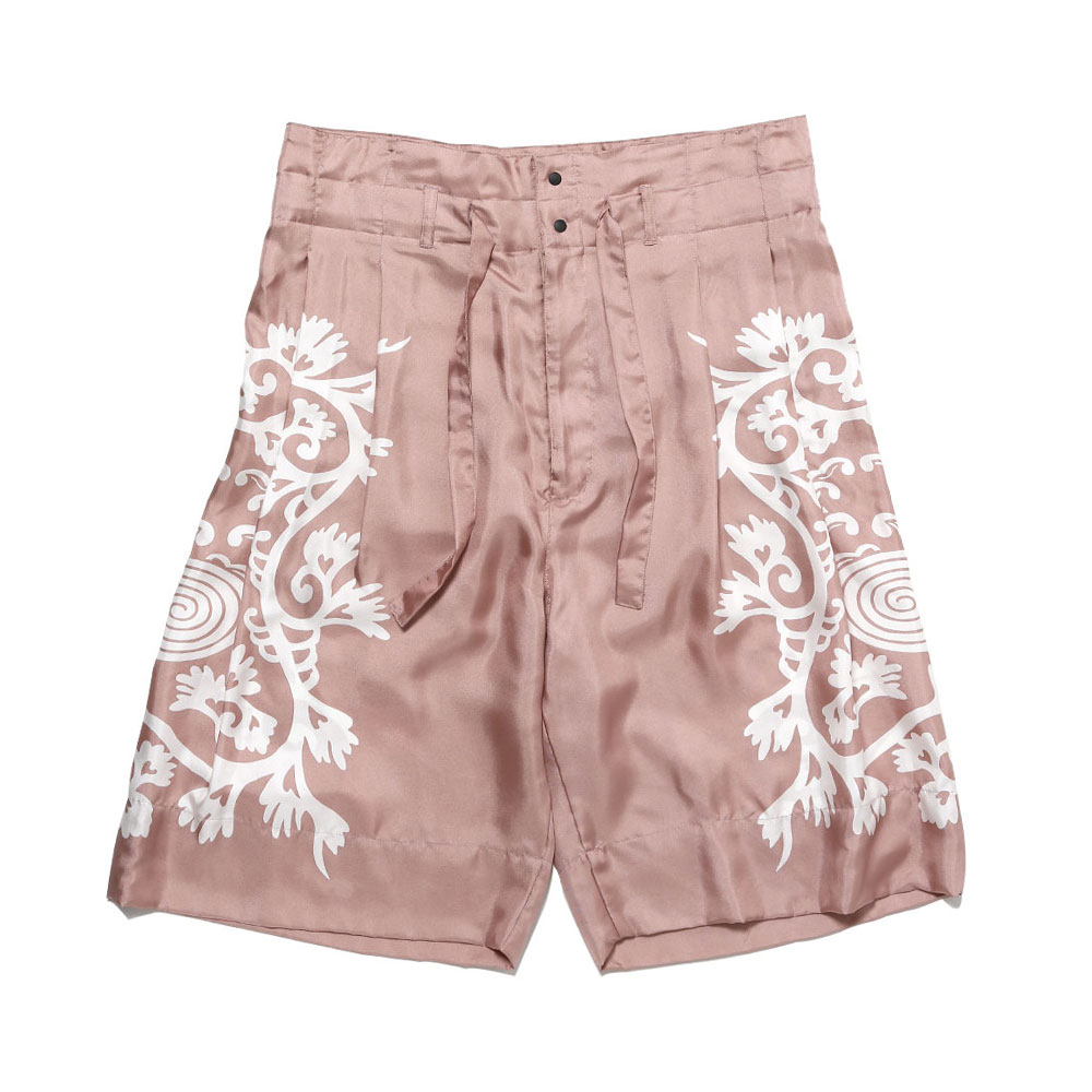 HI-WAIST SILK SHORTS