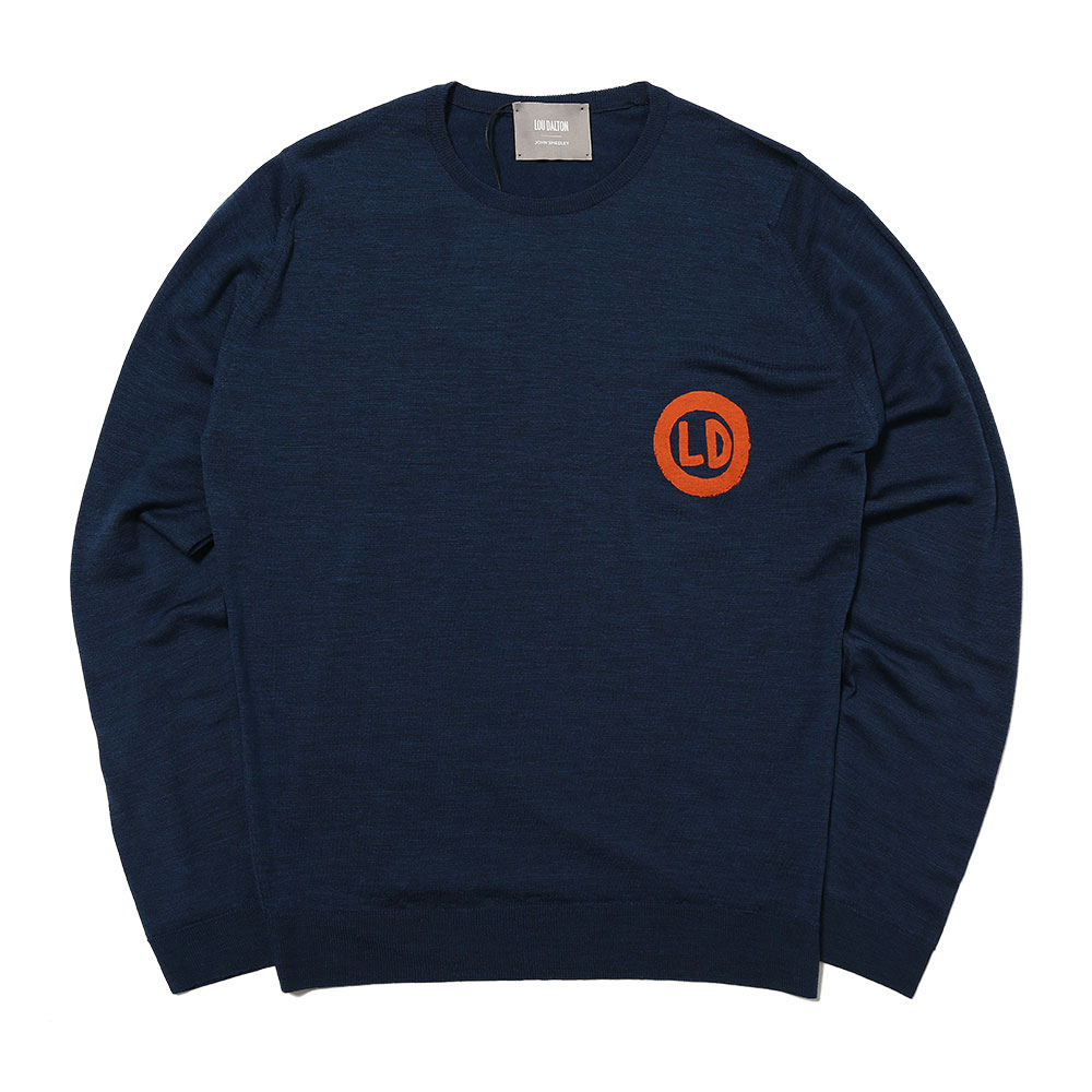 MERINO WOOL HAND DRAWN LD PRINTED CREW