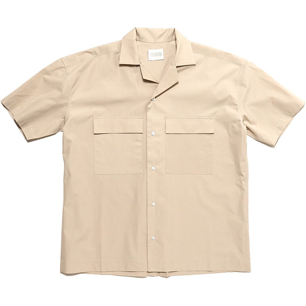 PJ SHORT SLEEVED SHIRT STONE COTTON
