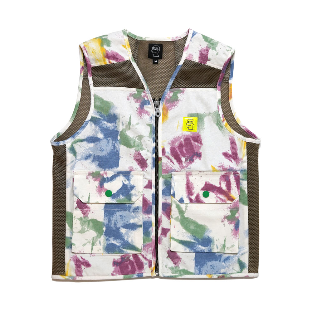DYED CANVAS SPACER MESH TACTICAL VEST DRY PIGMENT DYE