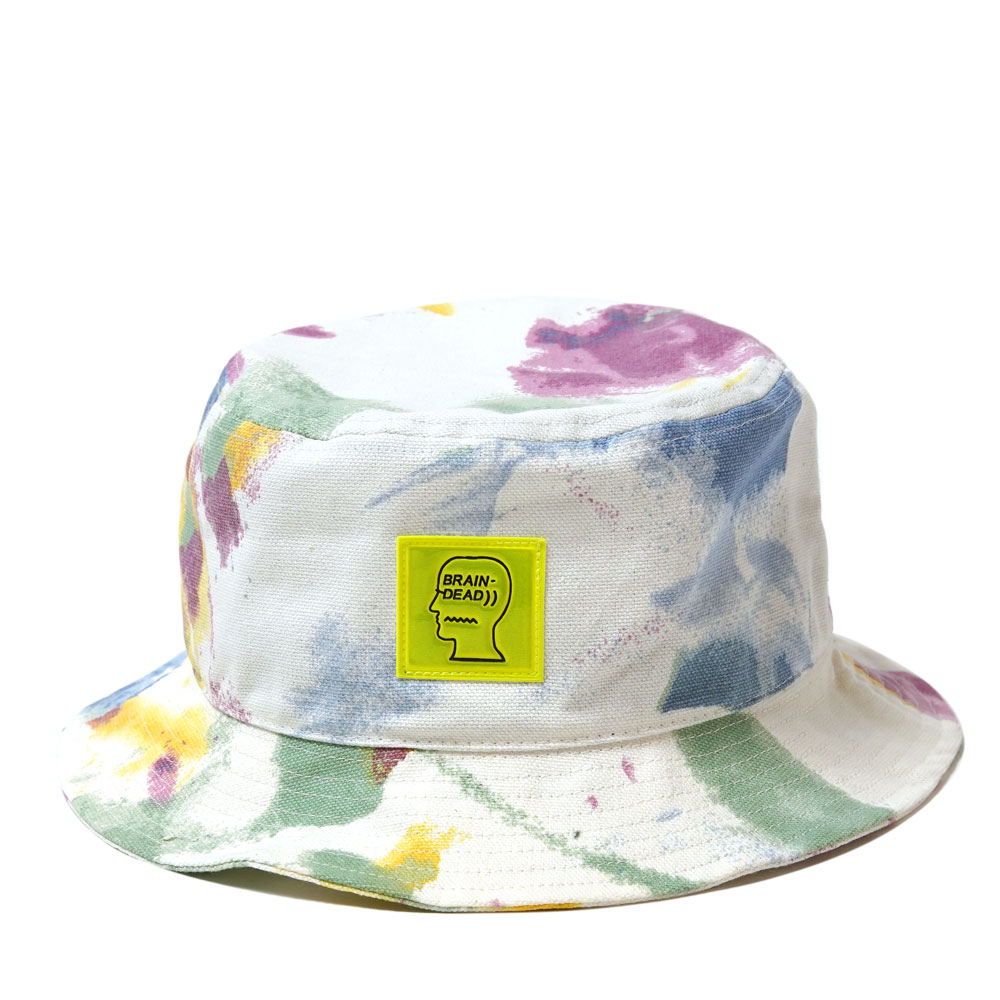 DYED CANVAS BUCKET HAT DRY PIGMENT DYE