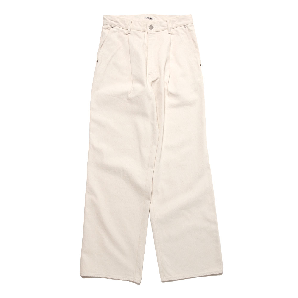 HARD TWIST DENIM WIDE SLACKS A20AP02DM WHITE x IVORY