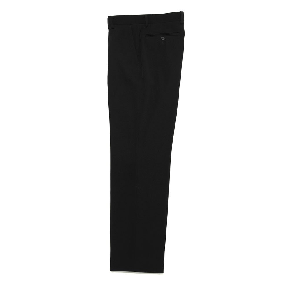WOOL MAX GABARDINE SLACKS BLACK