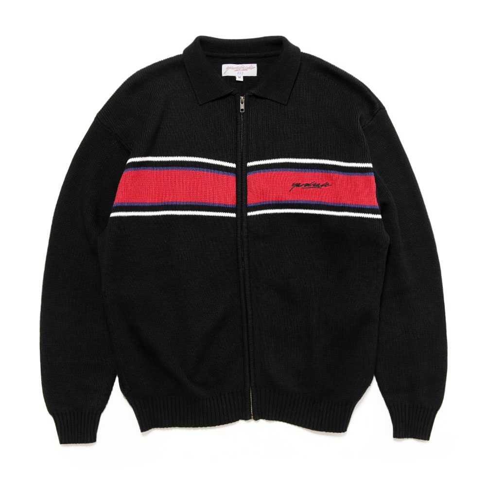 SORRENTO KNIT FULLZIP BLACK/CARDINAL