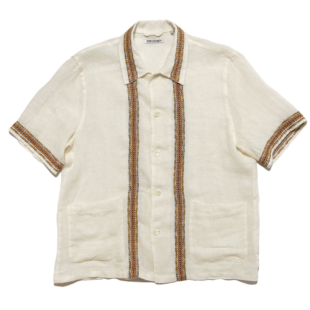 ELDER SHIRT SHORTSLEEVE WHITE ROUGH SACK