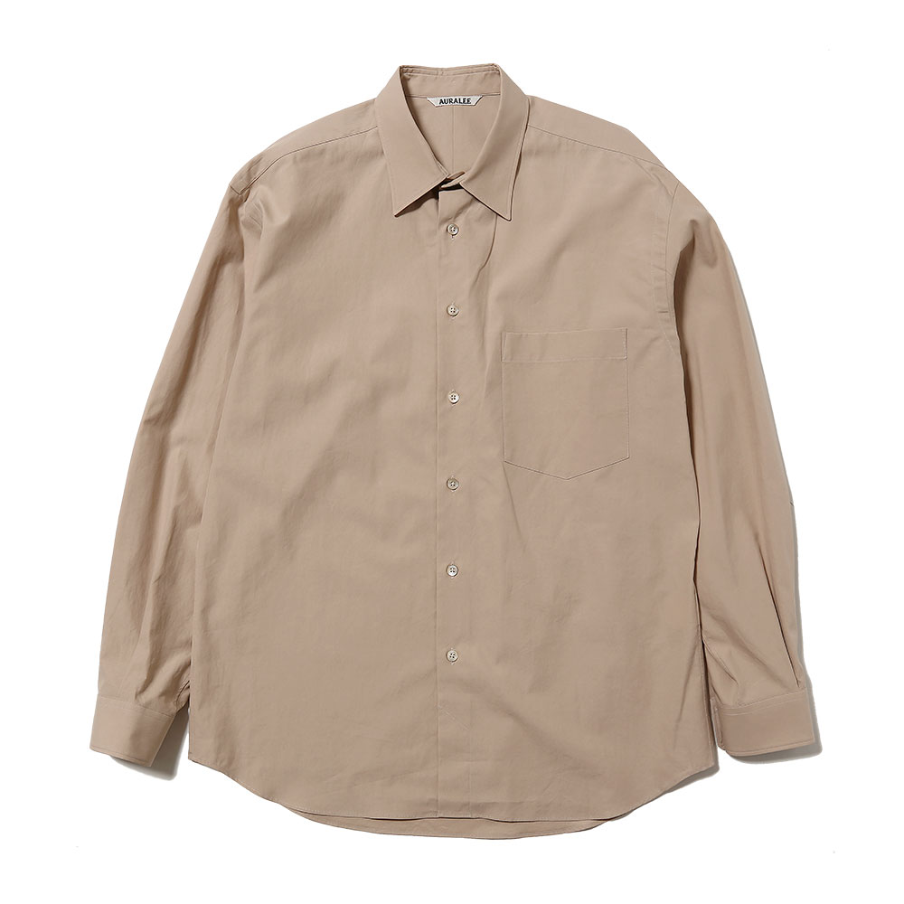 WASHED FINX TWILL SHIRTS LIGHT BROWN