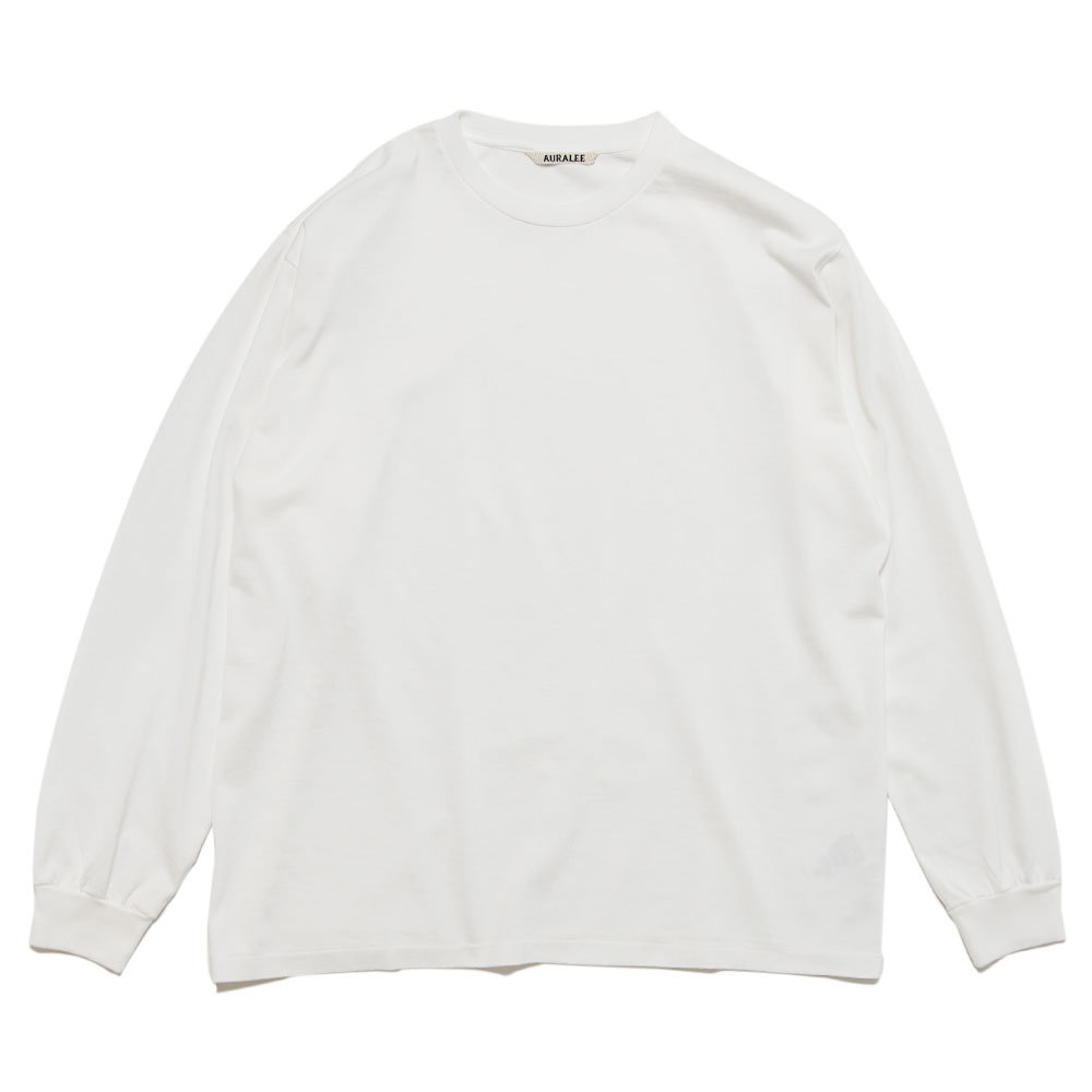 LUSTER PLAITING L/S TEE A20AP01GT WHITE