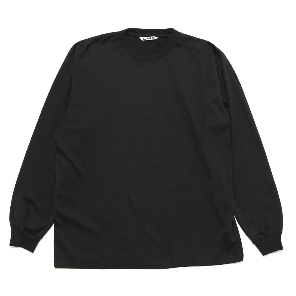 LUSTER PLAITING L/S TEE A20AP01GT BLACK