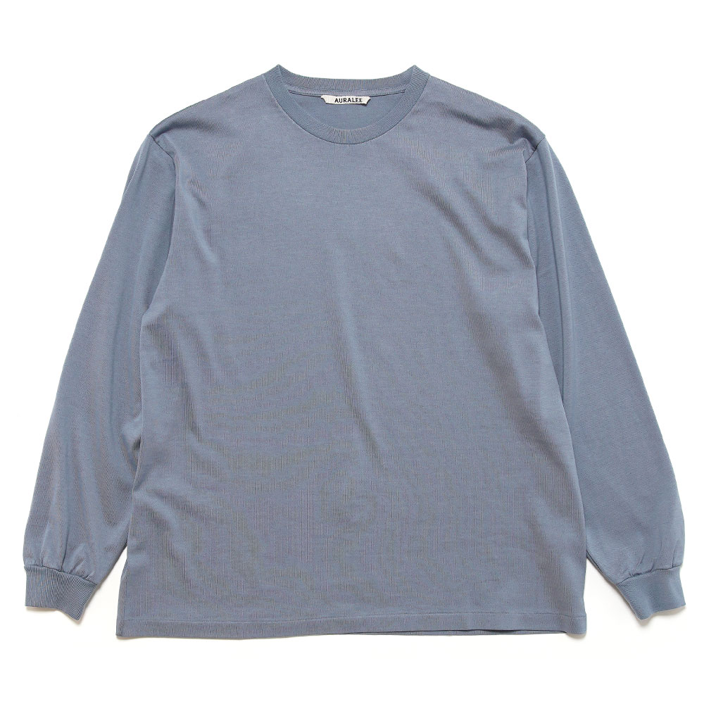 LUSTER PLAITING L/S TEE A20AP01GT BLUE GRAY