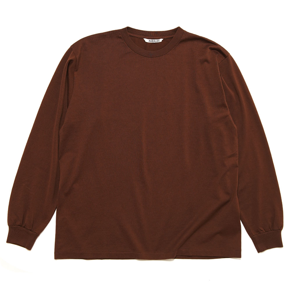 LUSTER PLAITING L/S TEE A20AP01GT BROWN