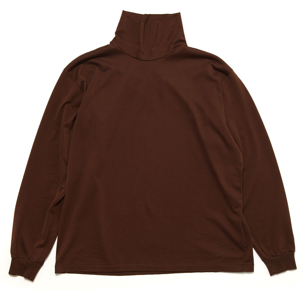LUSTER PLAITING HI NECK L/S TEE A20AP02GT BROWN