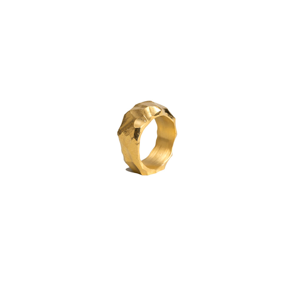 RAUK NARROW RING 101487 CARVED VERMEIL