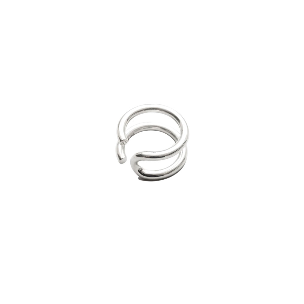 U TURN RING 101664 POLISHED SILVER
