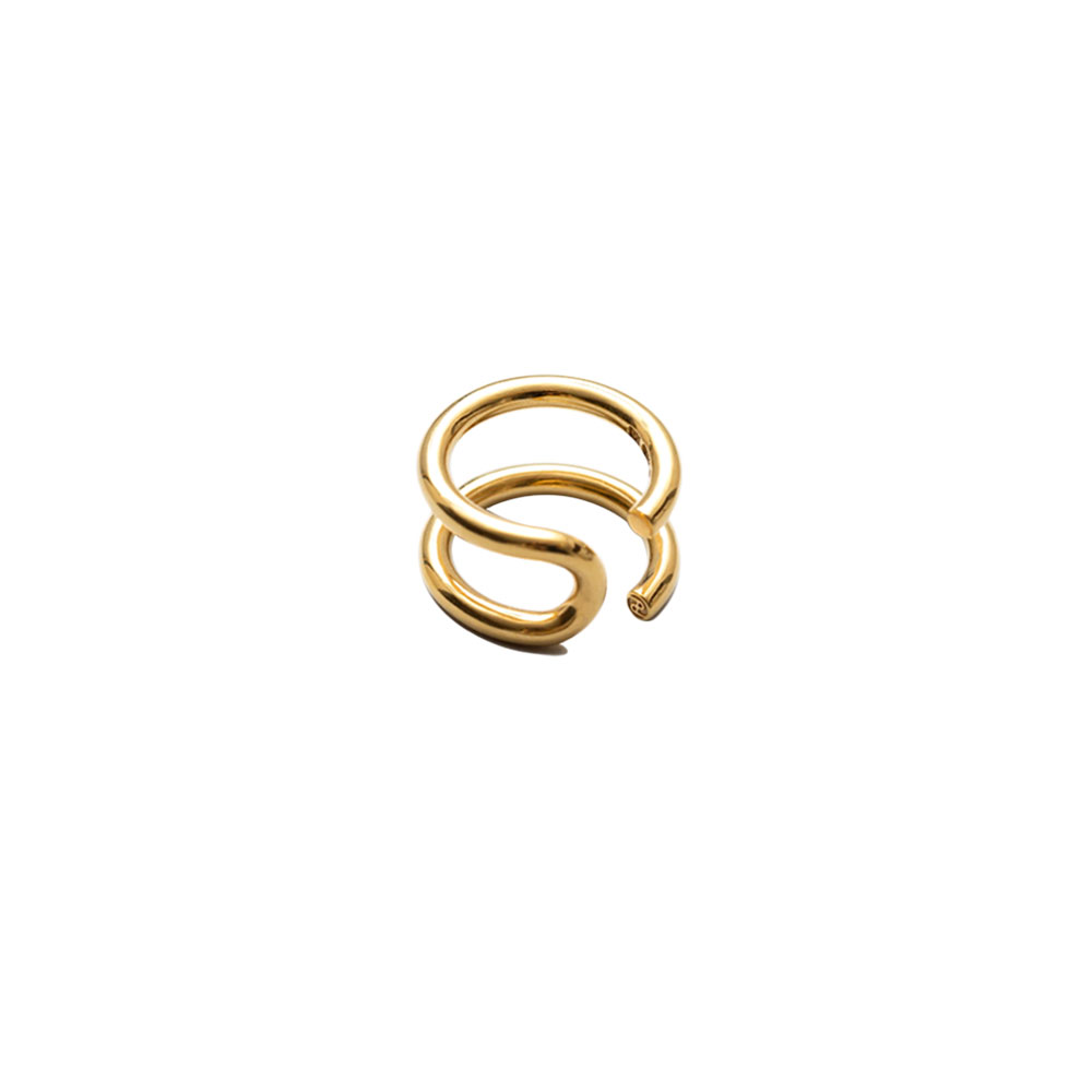U TURN RING 101665 POLISHED VERMEIL
