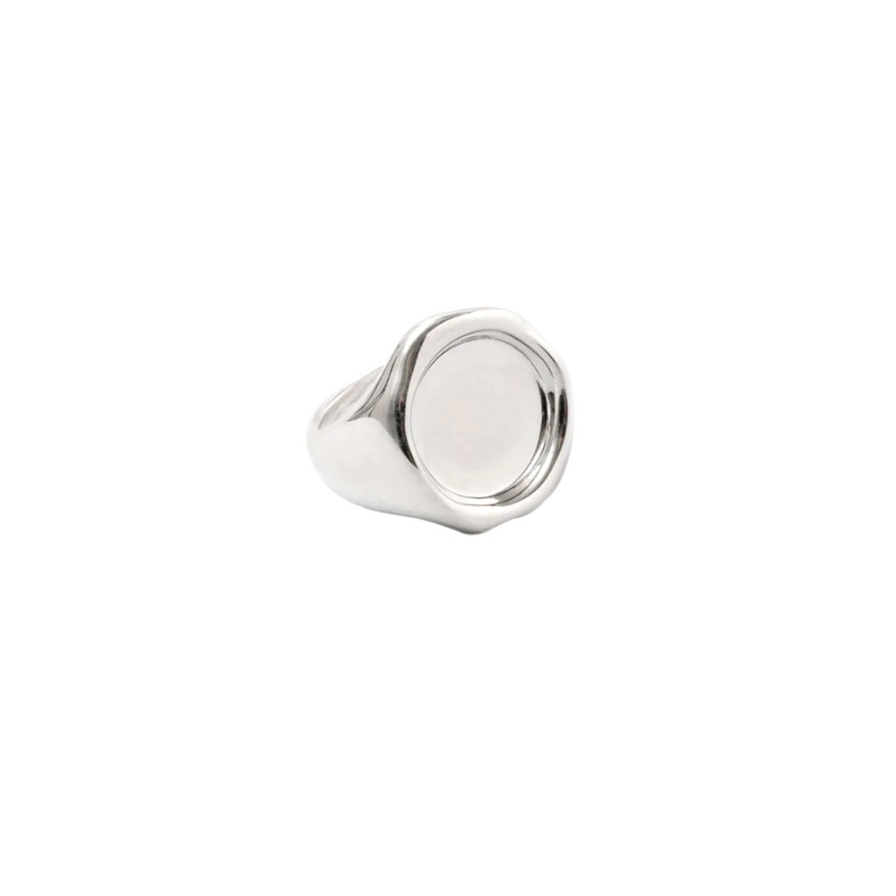 SIGILL RING 101604 POLISHED SILVER