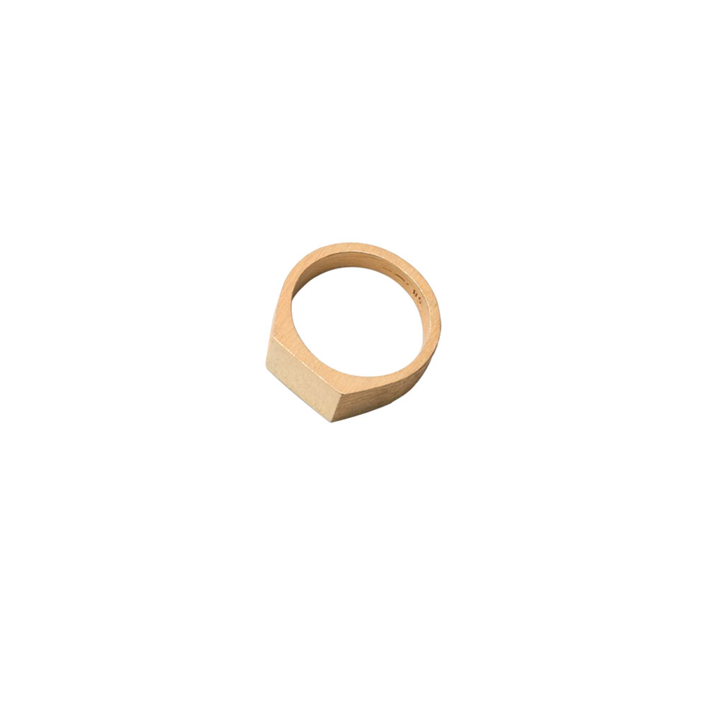 PLATFORM RING 101503 POLISHED & BRUSHED VERMEIL