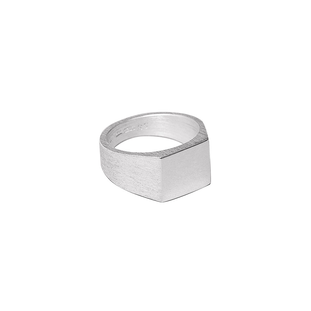 PLATFORM RING 101221 POLISHED & BRUSHED SILVER