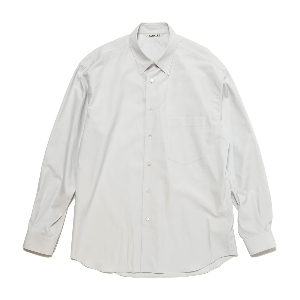 WASHED FINX TWILL SHIRTS A20AS01TN LIGHT BLUE
