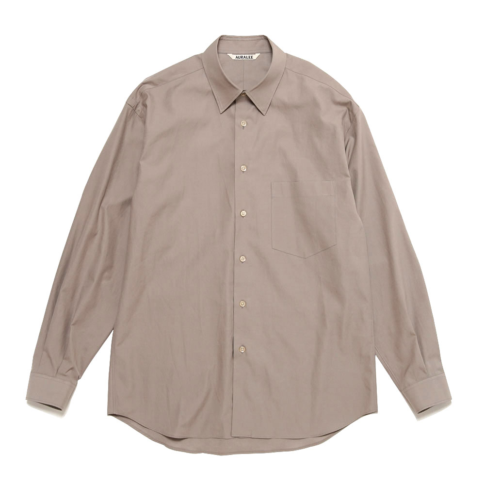 WASHED FINX TWILL SHIRTS A20AS01TN LIGHT BROWN